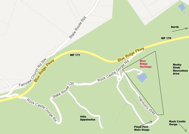 Rocky Knob Project Site Map