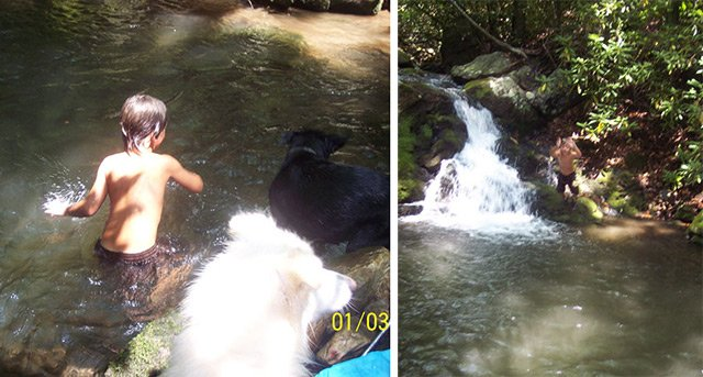 Swimming along Lower Hoop Hole