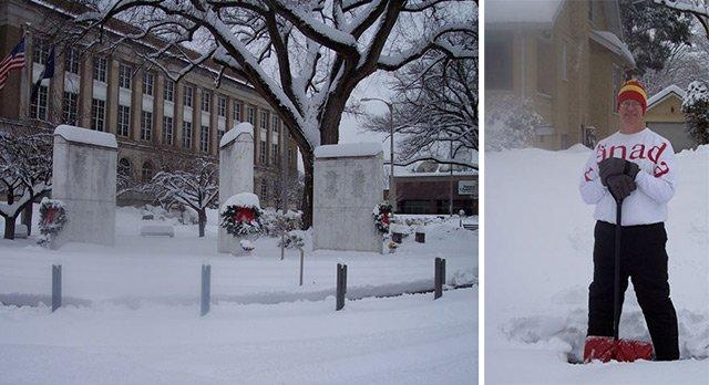 Snowy Roanoke
