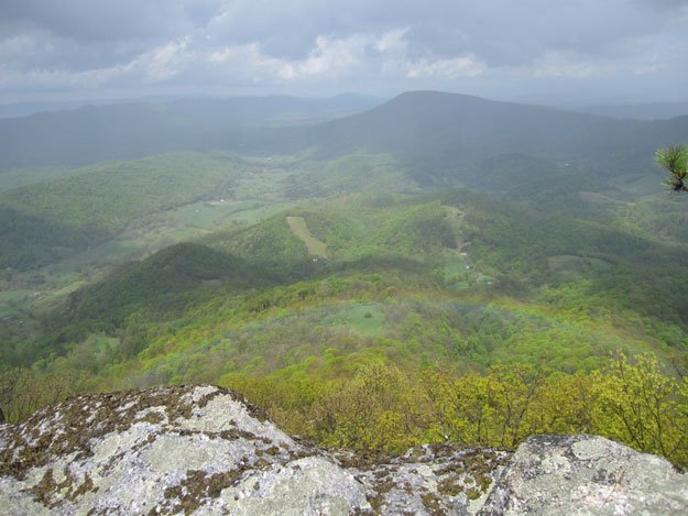 View is from McAfee Knob