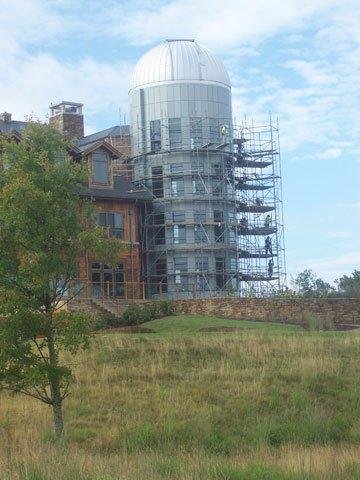 Primland Resort lodge and observatory.