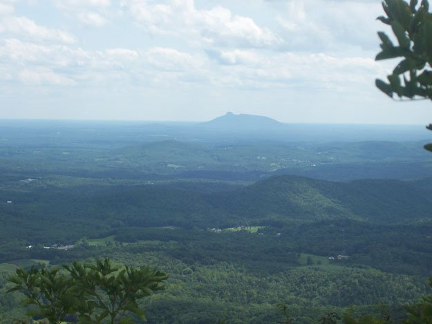 The view of Pilot Mountain