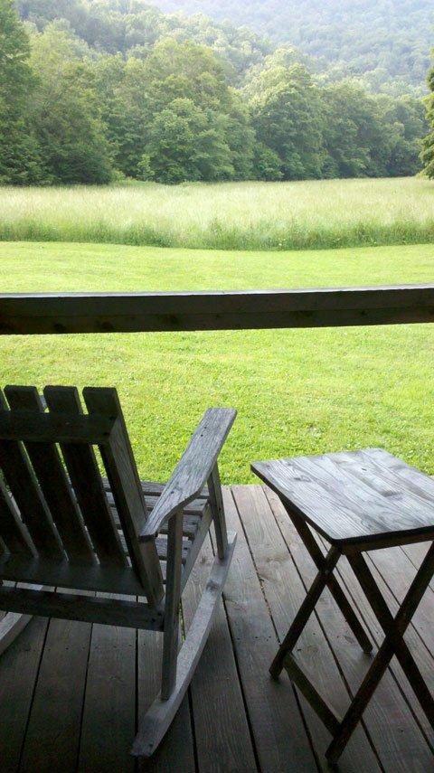The porch at the Elk River Inn