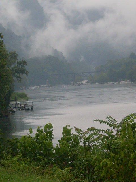 New River Bridge Boats