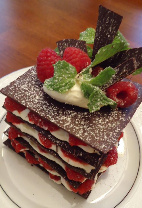 Chocolate, Berries & Cream Dessert