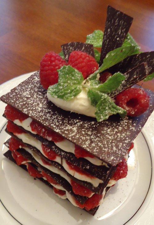 Chocolate, Berries & Cream Dessert