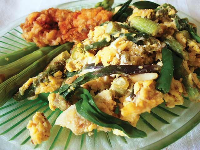 More Spring Recipes: Seared Asparagus, Ramp Scramble and Fried Morels.