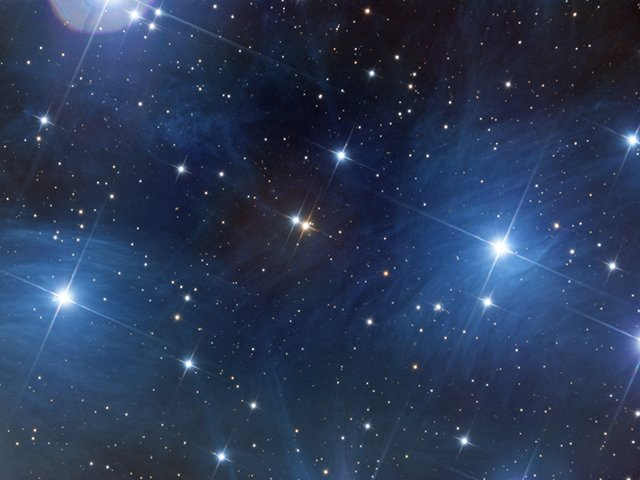 M45, the Pleiades or Seven Sisters