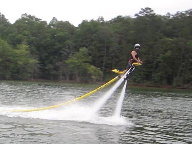 Riding a Jetovator on Lake Nottely