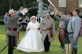 An evening wedding at the Battle of Tunnel Hill