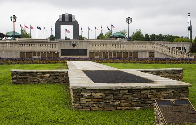 Each rock, each structure's shape is symbolic to the story of Operation Overlord.