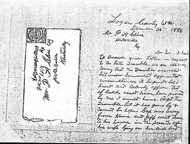 Anse Hatfield Letter