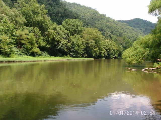 Another view of the Tug River from the old homeplace of Ephraim Hatfield and his wife Phoebe.