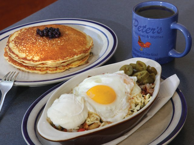 Peter's Pancakes and Waffles Plate