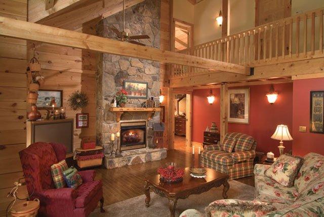 Log Stone Home