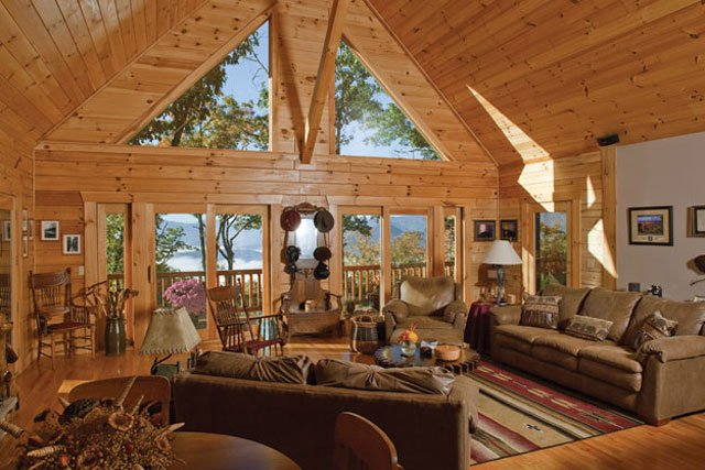 Livin lovin log homes - Interior pictures of small log cabins ...