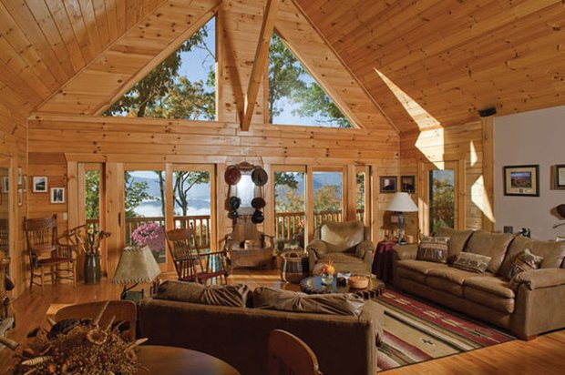 Livin lovin log homes for A frame style house