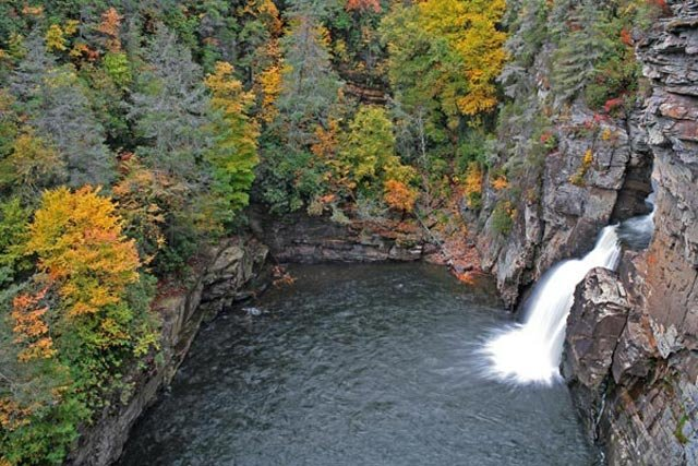 Linville Falls in Autumn