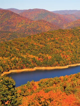 Fontana Lake in Fall