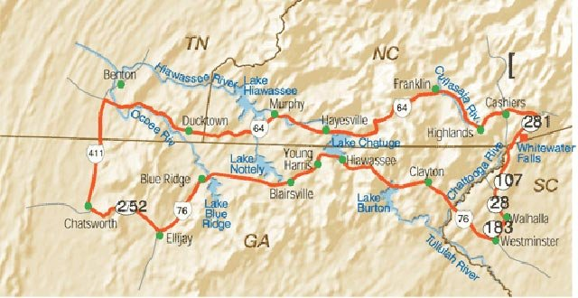 Southern Highroads Trail Map