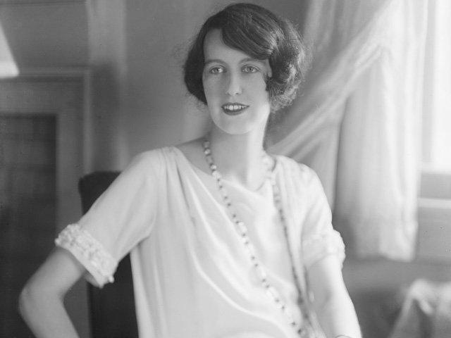 A black and white portrait of a woman looking off-camera - Cornelia Vanderbilt   Blue Ridge Country
