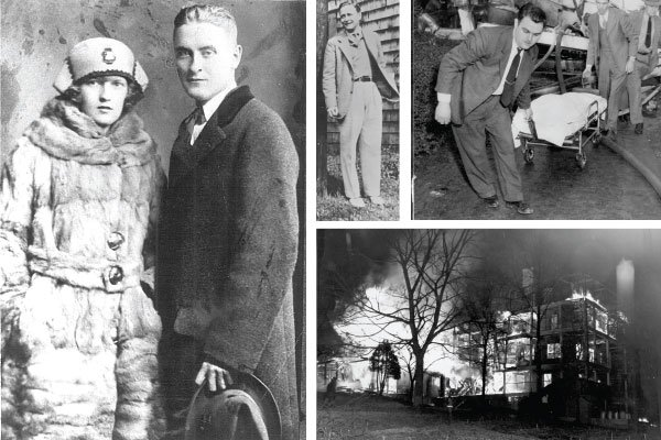 A collage of old images of Zelda Fitzgerald and the Highland Hospital fire in Asheville, NC | Blue Ridge Country
