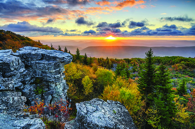 Scenic sunrise, Dolly Sods, West Virginia