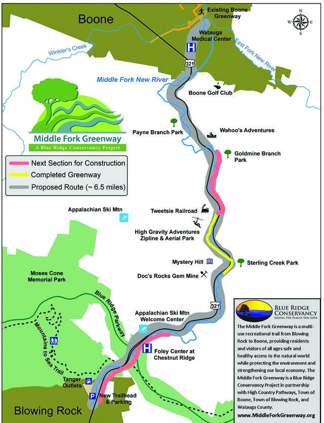 N.C. Greenway Map
