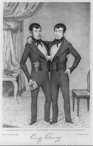 A portrait of the twins as young men