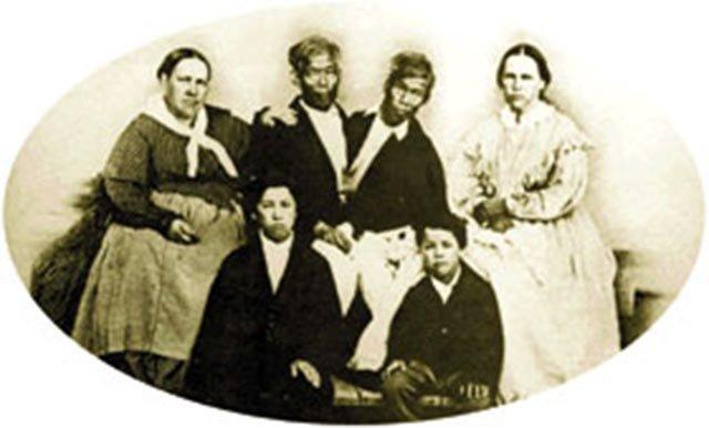 Family bliss, circa 1865