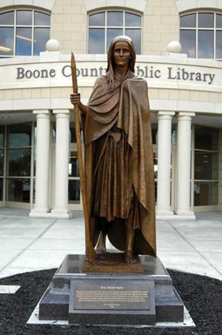 Bronze sculpture of Mary Draper Ingles