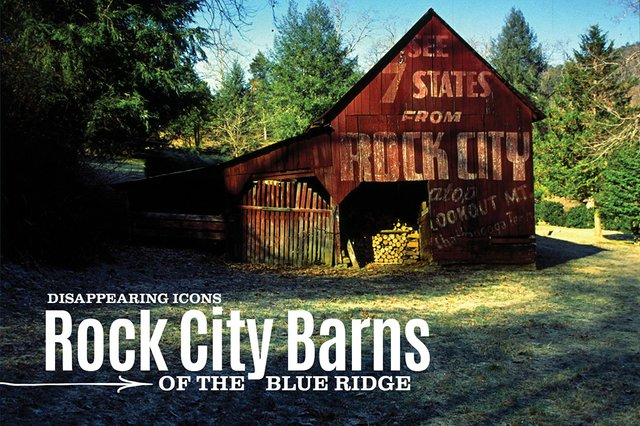 A red Rock City Barn in a forest in Bryson City, North Carolina | Blue Ridge Country