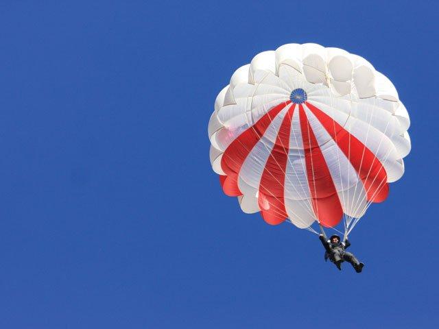 Parachutist Gliding