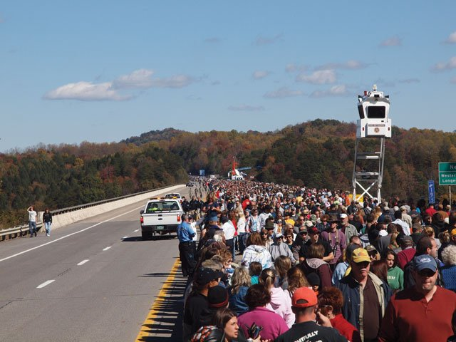 Pedestrians on the Bridge Top