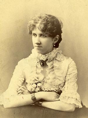Katharine Brown's great-grandmother Nellie Chancellor, c. 1885.