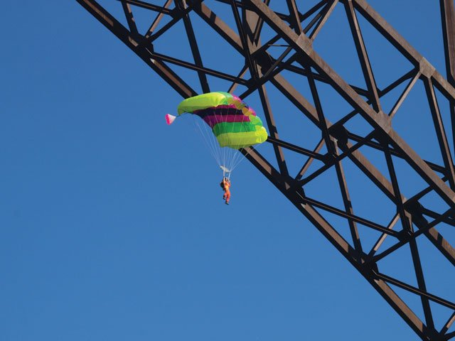 Parachutist Gliding II