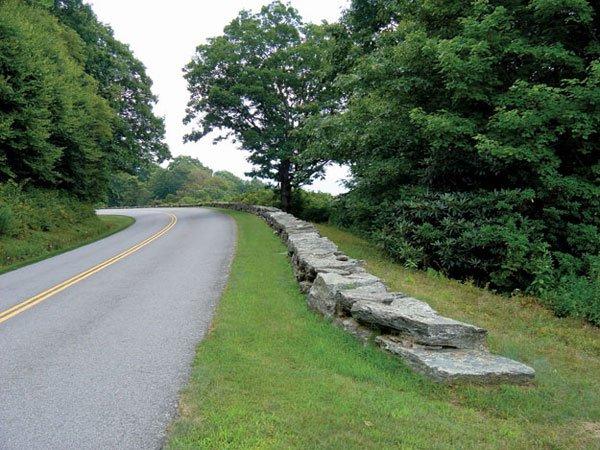 Stone Guardrail on the Blue Ridge Parkway